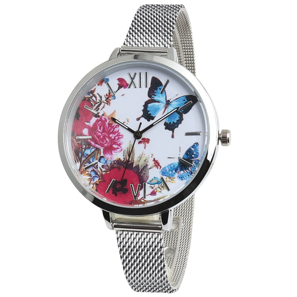 Beautiful Flower Butterfly Women Watch
