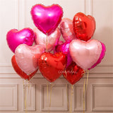 Heart Ballons for  Happy Birthday and Valentine's Day