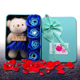 New Little Bear Hot Cute DIY Creative Soap Roses Valentine 's Day Gift