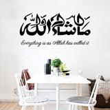 Quotes Masha Allah Islamic Wall Stickers Room Decoration Removable