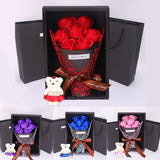 Home Decor Soap Flower Gift Box Bear Novelty Valentine Day Gift