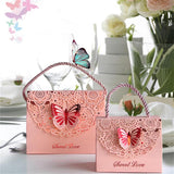 Creative Hollow Paper Candy Box Portable Butterfly Birthday Party Handbag