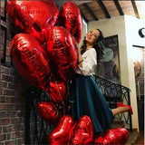 Red Heart Ballon for wedding decoration valentine's day