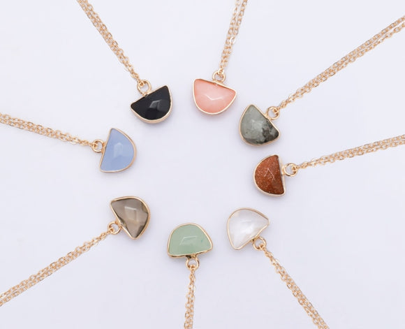 Natural stone star pendants valentine's day choker jewlery heart necklace