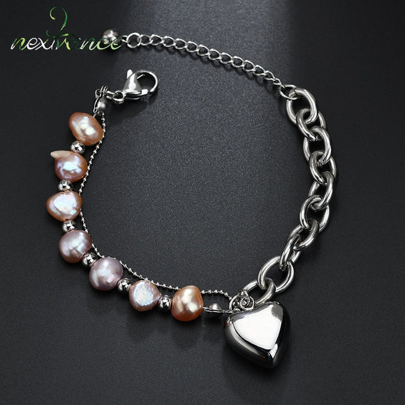 Nextvance Silver Heart Pendant Bracelet For Valentines Day Gift