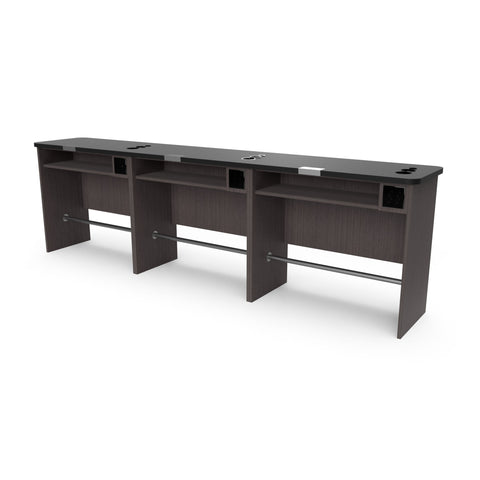 Free-Standing Single Sided Combo Desk - Collins