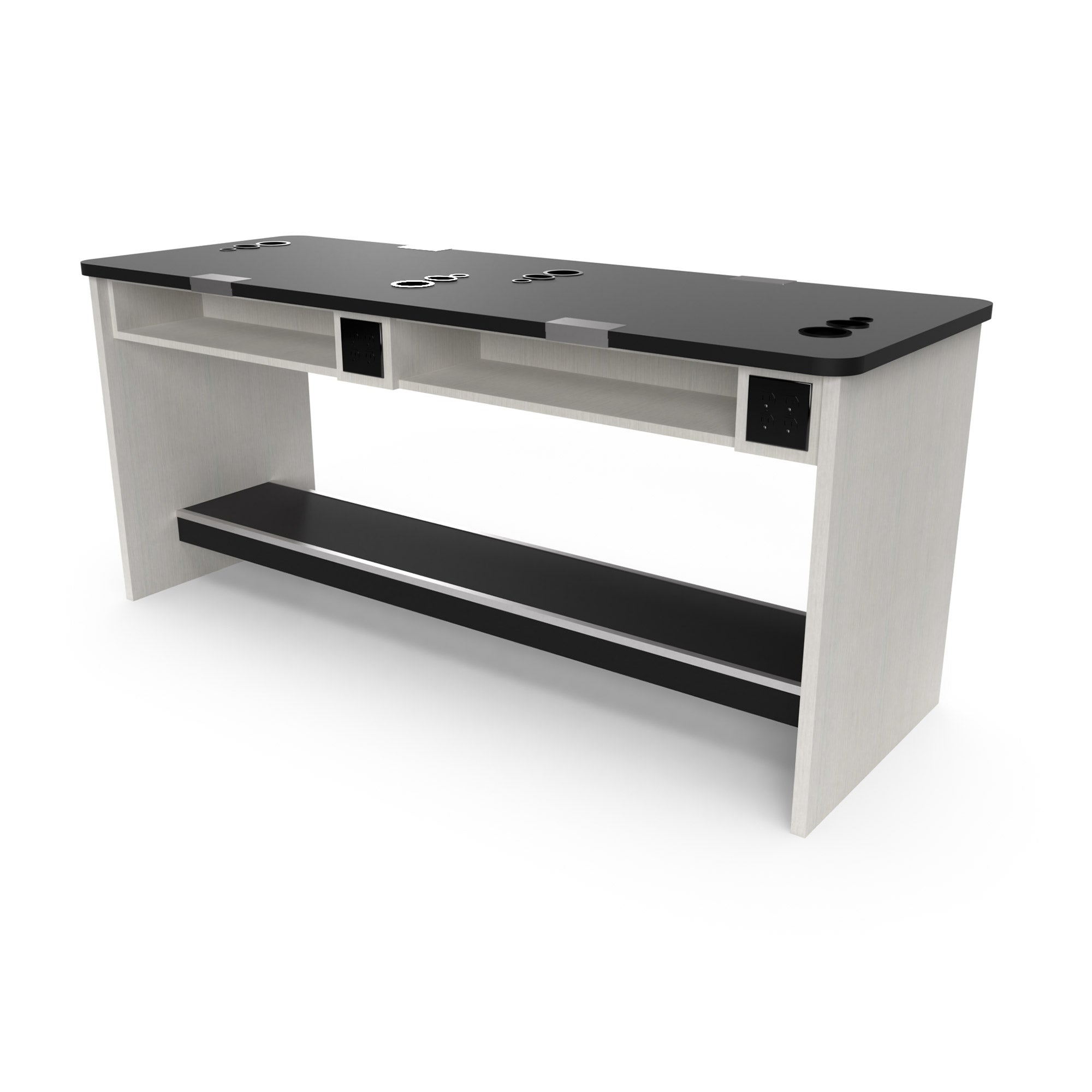 Double Sided Mannequin Combo Desk for Four Students - Collins