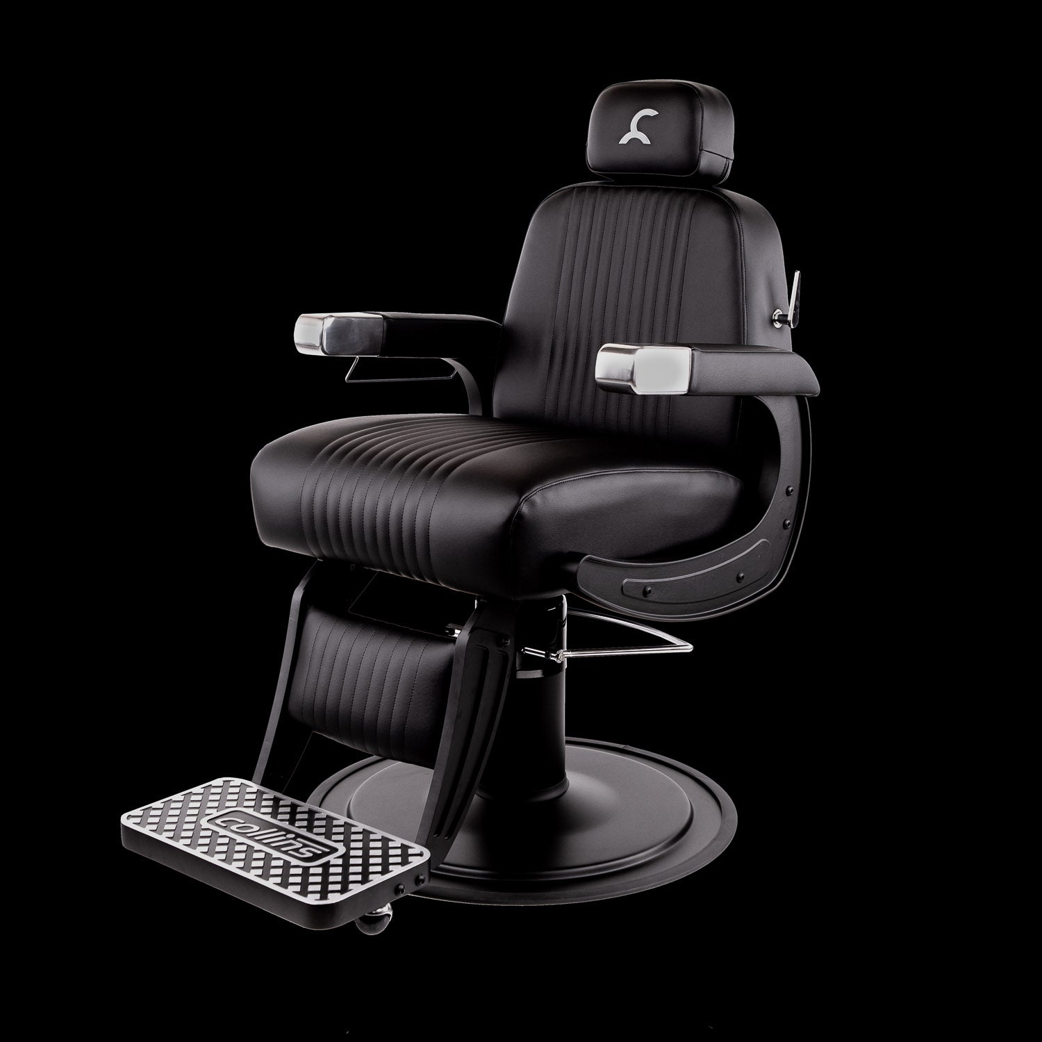 Blacked-Out Cobalt Omega Barber Chair