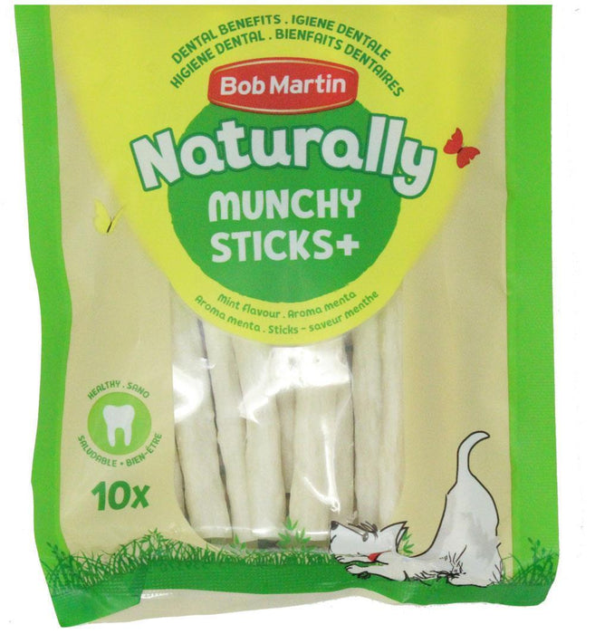 Buy BM Naturally Munchy Sticks+ Mint Flavour - For s/m & m/l Dogs - Just Out of Date from Steal A Deal