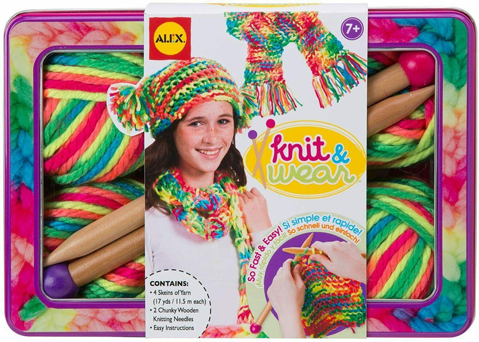 Arts and Crafts - Kids Fun School Entertaining Toys - Knit and Wear - Alex