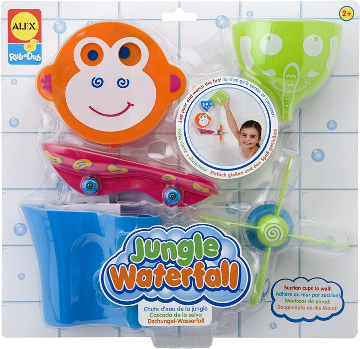 Children's Bath Time Toy - Fun and colourful Waterfall Jungle - Alex
