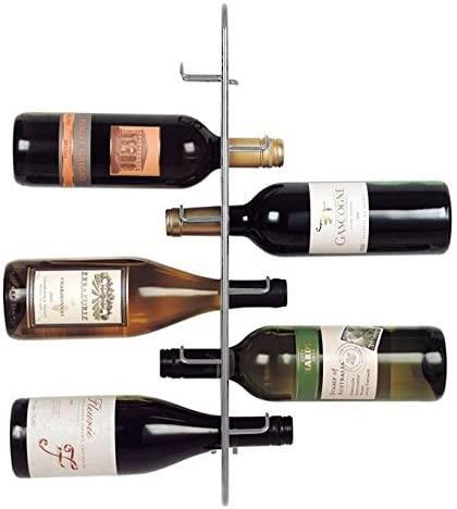 Metal Wine Rack Storage Holder - Sloane & Ebury - Navarre Wall Mounted 6 Bottle