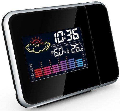 Buy Projection Alarm Clock With Weather Station displaying Temperature - USB Mains L from Steal A Deal