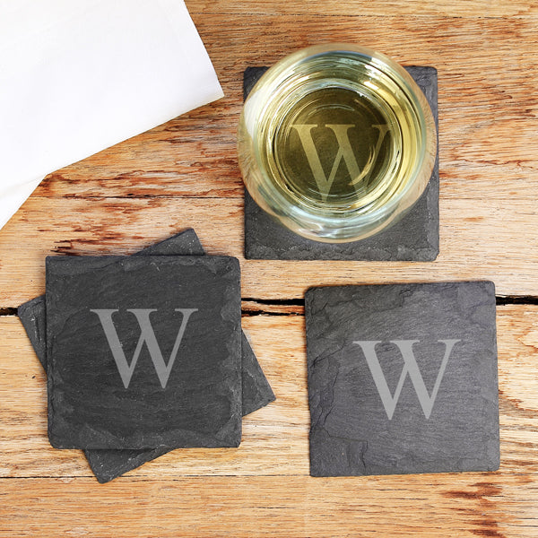 Personalized Slate Coasters Set - FriendsWhoDrink