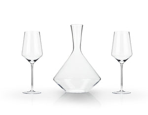 Elegant Angled Wine Decanter Set - FriendsWhoDrink