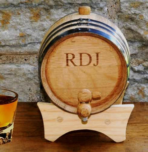 Custom Oak Whiskey Barrel - FriendsWhoDrink