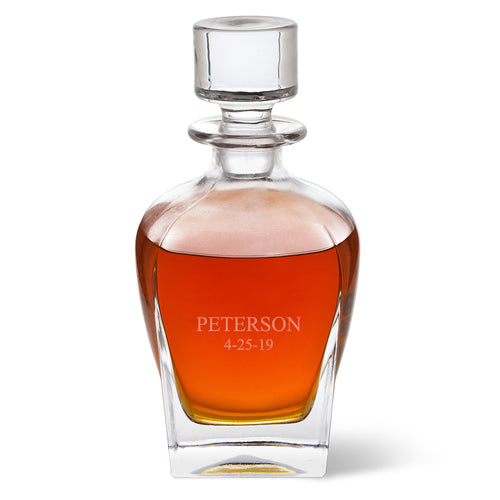 Personalized Rounded Whiskey Decanter - FriendsWhoDrink