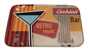 Retro Cocktail Bar Sign Bath Mat - FriendsWhoDrink