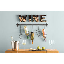 Load image into Gallery viewer, Wine Block Letters Cork Holder - FriendsWhoDrink