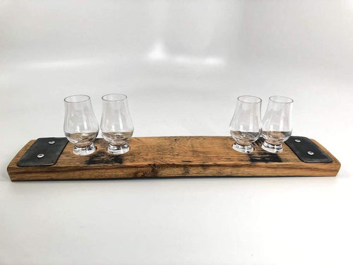 Bourbon Barrel Flight Tray with Tasters - FriendsWhoDrink