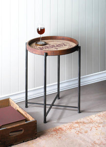 Bordeaux Wine Label Side Table - FriendsWhoDrink
