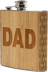 Wooden Engraved Dad Flask - FriendsWhoDrink