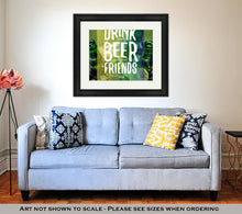 Load image into Gallery viewer, Framed Print, Bucket Full Of Ice And Beer Bottles - FriendsWhoDrink