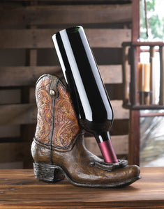 Western Cowboy Boot Wine Bottle Holder - FriendsWhoDrink