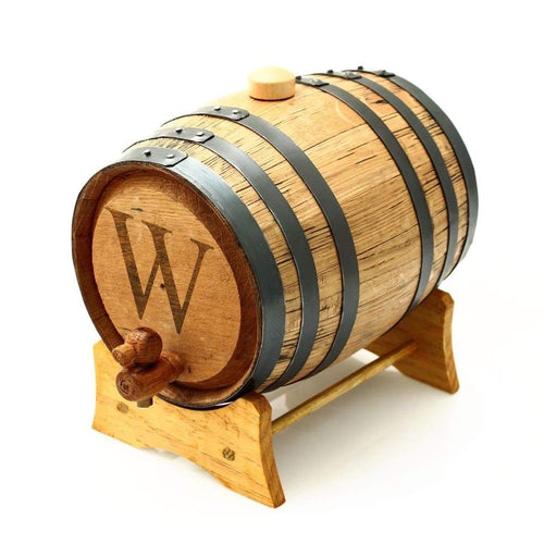 Monogrammed Bluegrass Whiskey or Bourbon Barrel - FriendsWhoDrink
