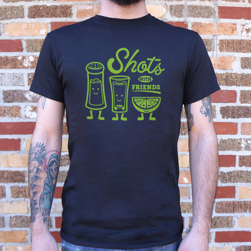 Shots With Friends T-Shirt (Mens) - FriendsWhoDrink