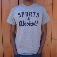 Load image into Gallery viewer, Sports And Alcohol T-Shirt (Mens) - FriendsWhoDrink