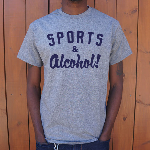 Sports And Alcohol T-Shirt (Mens) - FriendsWhoDrink