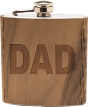 Load image into Gallery viewer, Wooden Engraved Dad Flask - FriendsWhoDrink