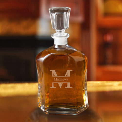 Personalized Monogrammed Whiskey Decanters - FriendsWhoDrink