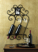 Load image into Gallery viewer, Elegant wine and glass wall rack - FriendsWhoDrink