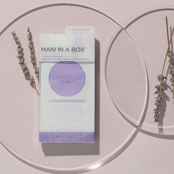 VOESH Mani in a Box 3 Step - (Waterless) Lavender Relieve