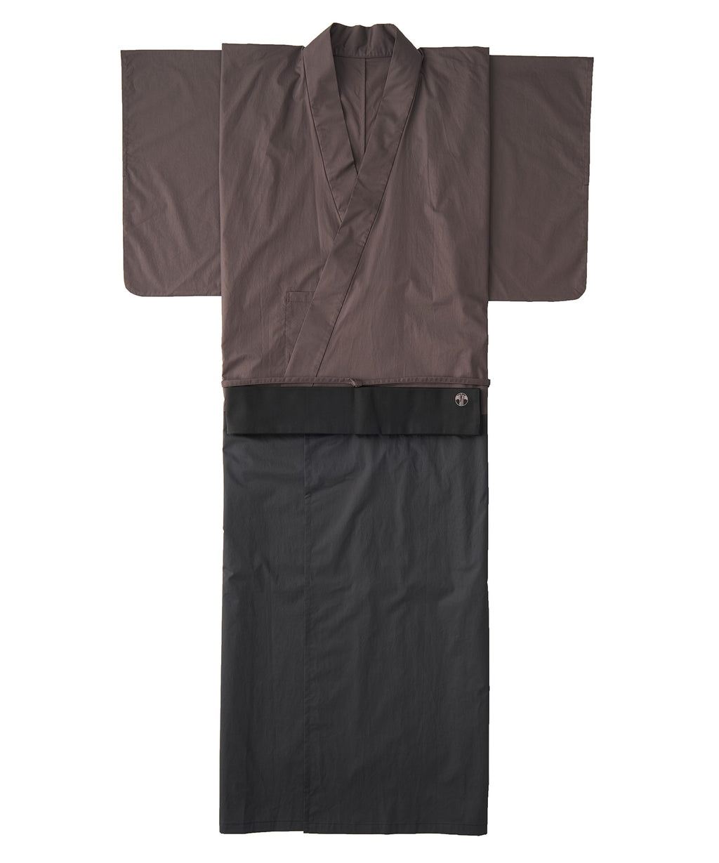 WAROBE / BI-COLOR YUKATA / BROWN x BLACK