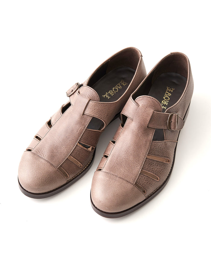 【PRE-ORDER】TROVE / LEATHER SHOES / GRAY BEIGE