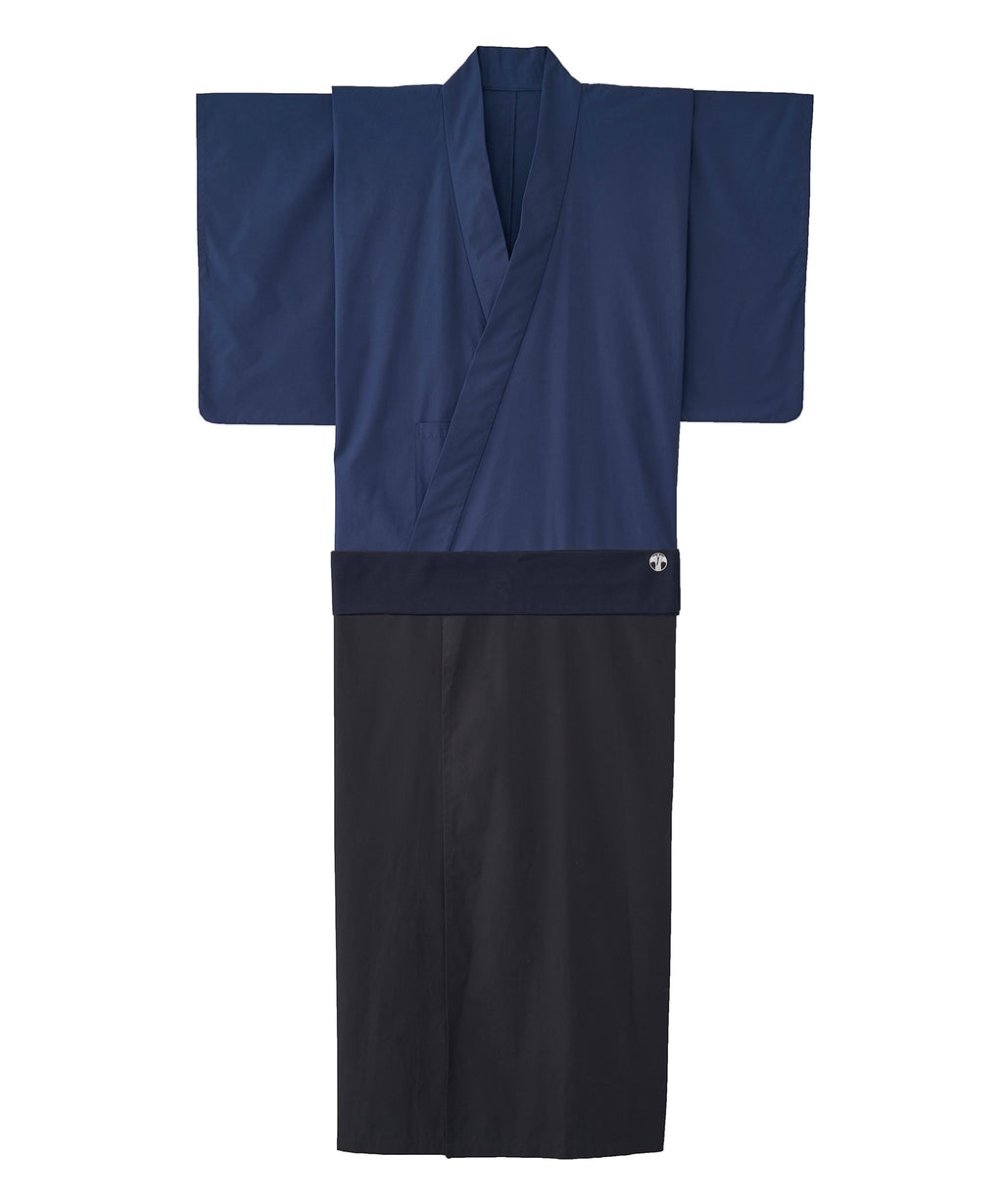 WAROBE / BI-COLOR YUKATA / NAVY x DARK NAVY