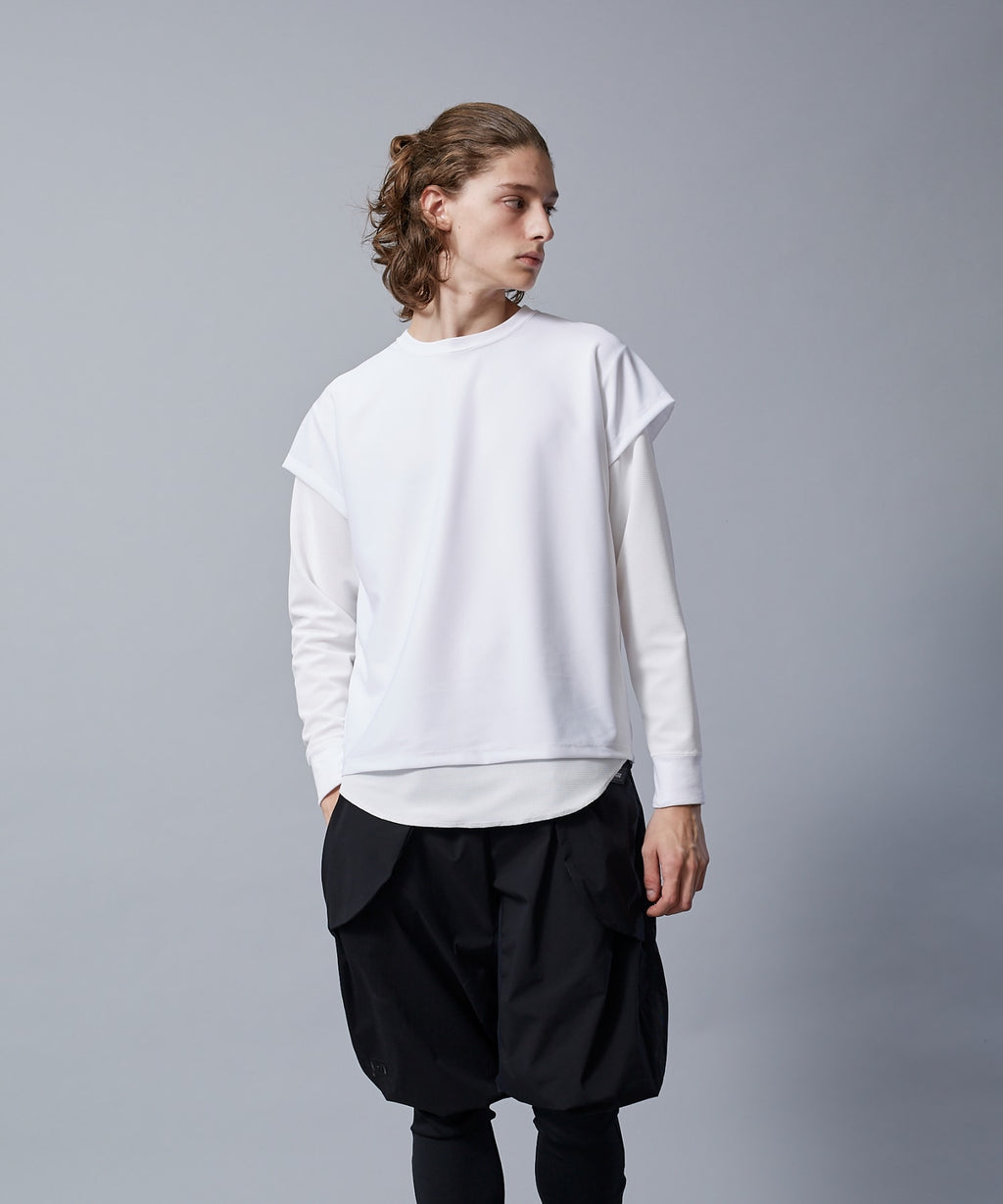 TROVE ACTIVE / LAYERED LONG SLEEVE / WHITE
