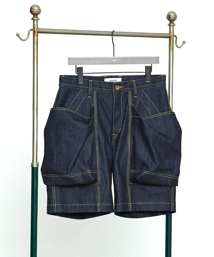 TROVE / BIG POCKET SHORTS ( BASIC SILHOUETTE DENIM ) / INDIGO
