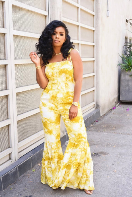 Mellow Yellow| Flare Jumpsuit