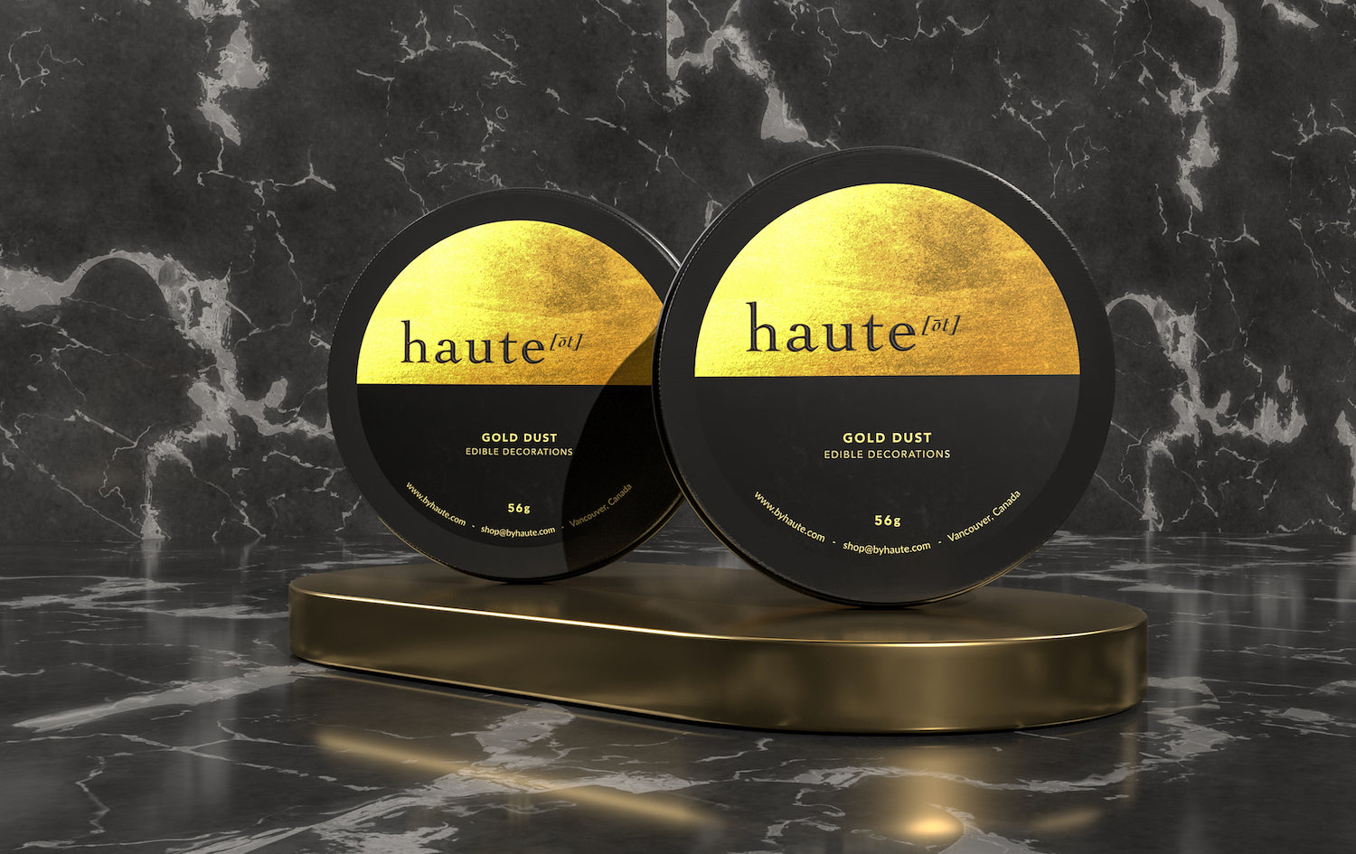 Haute Food Colors Gold Luster Dust Label
