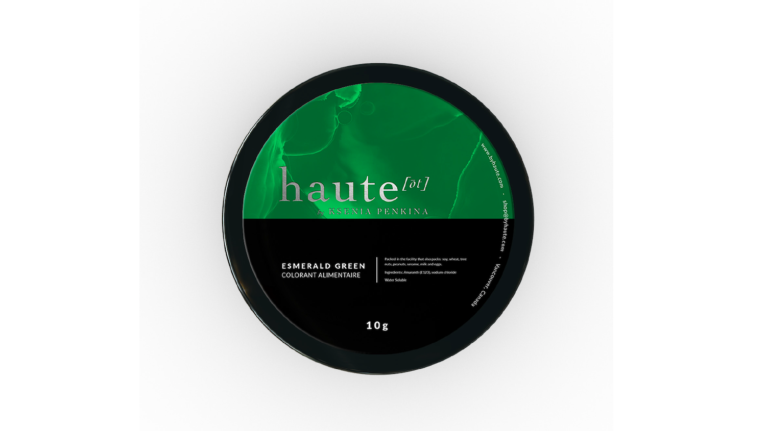 Emerald Green Water Soluble Food Color Haute Label