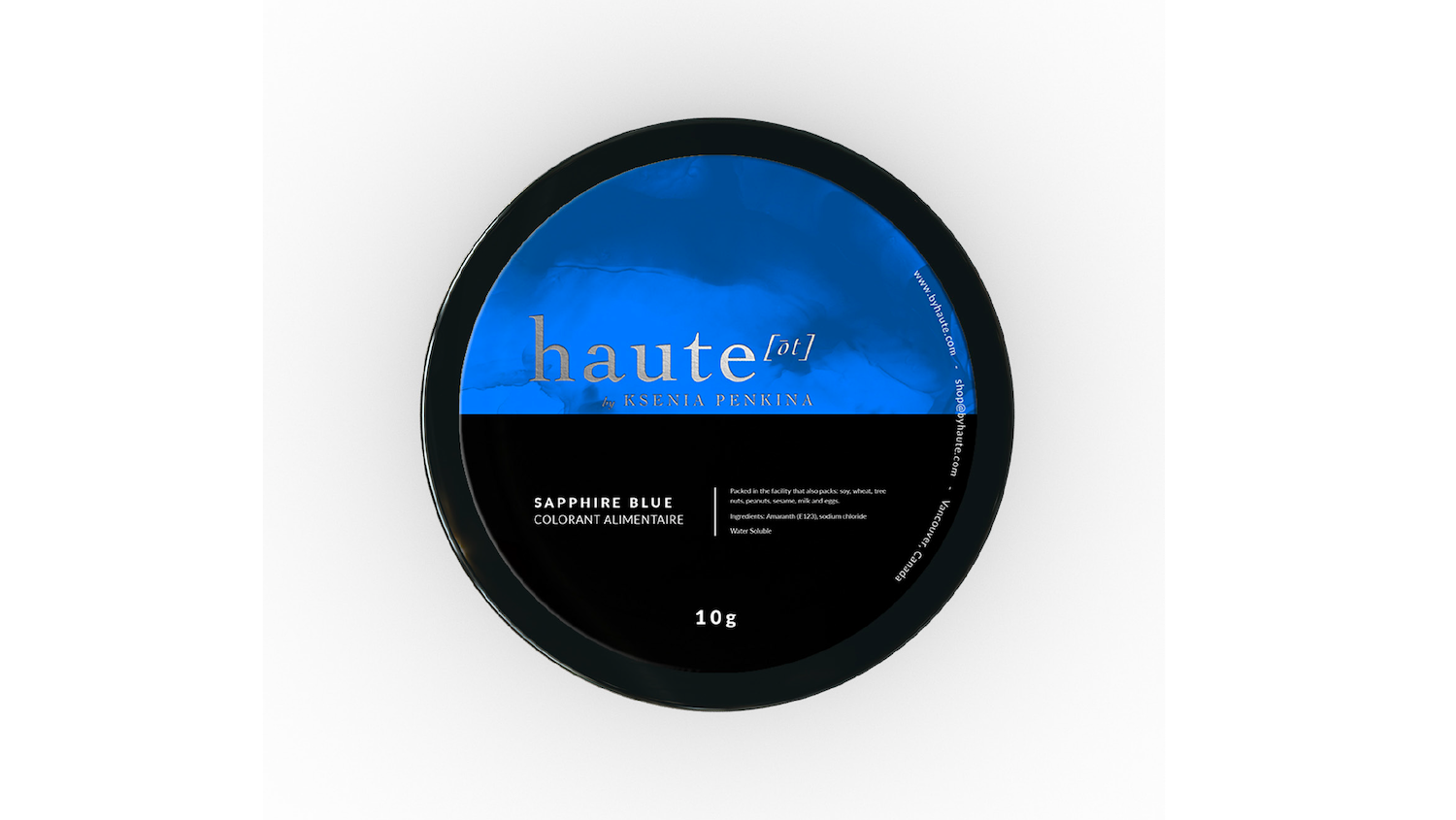 Sapphire Blue Water Soluble Food Color Haute Label