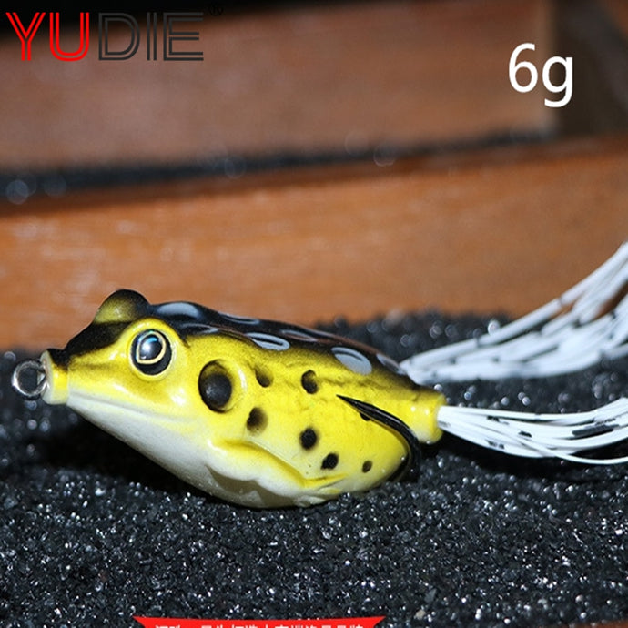 1Pcs 4cm 6g Lifelike Soft Small Jump Frog Enticement Lures 8 Colors