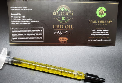 1 ml (1-day) Sample pack CBD 1000 mg tincture