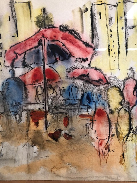 Water Color Sidewalk Cafe