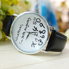 Load image into Gallery viewer, Zesty's 'Whatever, I'm Late Anyway' Quartz Watch - Zesty Club