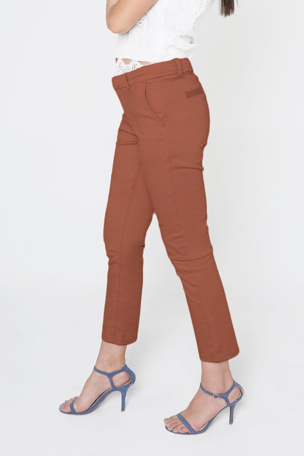 Closet Staples Slim Fit Chinos With Flat Front Detail